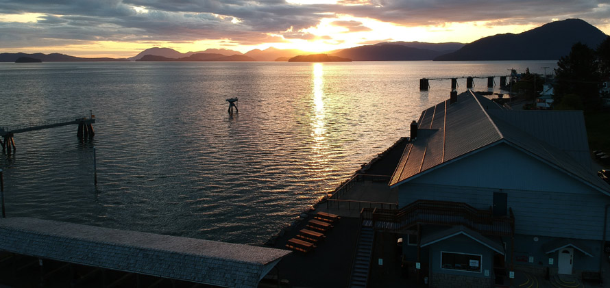 sunset in Wrangell, Alaska